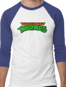 Teenage Mutant Ninja Thirties HARDCORE  Men's Baseball ¾ T-Shirt