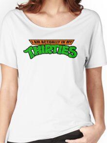 Teenage Mutant Ninja Thirties HARDCORE  Women's Relaxed Fit T-Shirt