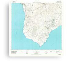 USGS TOPO Map Hawaii HI Hawaii County Sheet 3 349914 1980 100000 Canvas Print