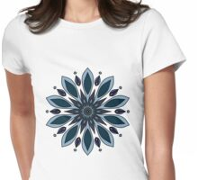 Blue knapweed flower Womens Fitted T-Shirt