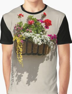 Wall Basket - Spring Flowers Graphic T-Shirt