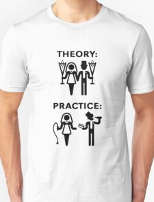 Theory & Practice / Bride & Groom (Wedding / Black) T-Shirt