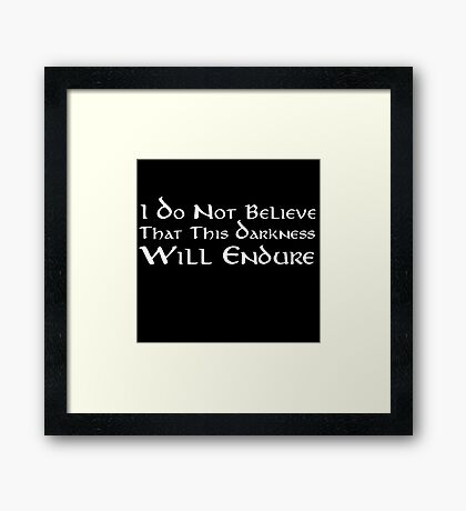 Darkness (White) Framed Print