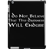 Darkness (White) iPad Case/Skin