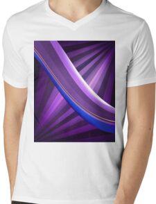 Abstract waves Mens V-Neck T-Shirt