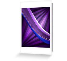 Abstract waves Greeting Card