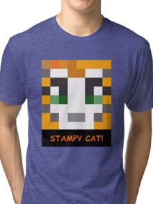 Stampy Cat! Tri-blend T-Shirt