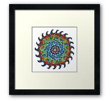 Tsunami Mandala Framed Print