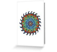 Tsunami Mandala Greeting Card
