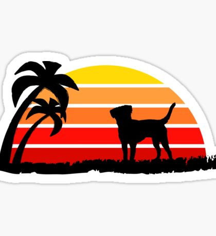 Labrador Retriever on Sunset Beach Sticker