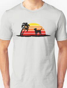Labrador Retriever on Sunset Beach Unisex T-Shirt