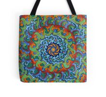 Tsunami Mandala (with background) Tote Bag