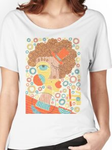 Smoking  lady in orange Women's Relaxed Fit T-Shirt