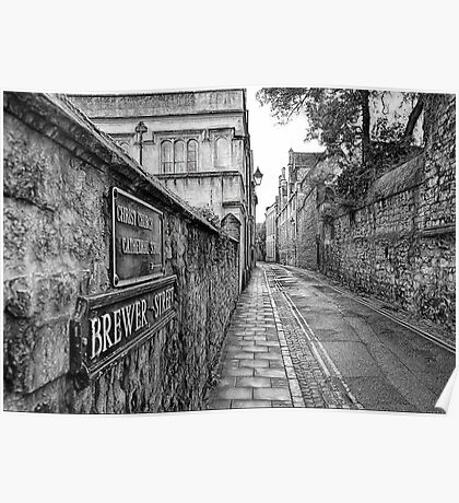 Brewer Street in Oxford Poster