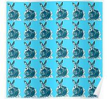 Blue Bunnies Poster