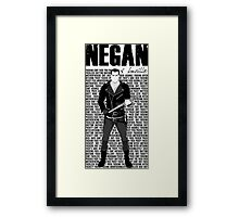 The Walking Dead - Negan & Lucille 4 Framed Print