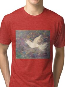 """One Winged Dove"" Tri-blend T-Shirt"