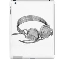 Headphones - Vintage iPad Case/Skin