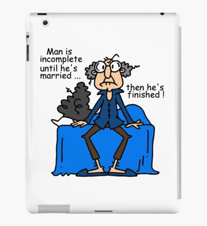Funny Sarcasm Men and Marriage iPad Case/Skin
