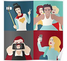 Selfie Pop art Patchwork Poster