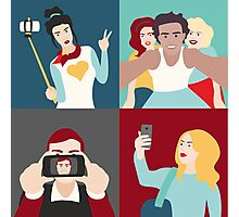 Selfie Pop art Patchwork Photographic Print