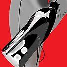 Black heels grey stockings by Michael Birchmore
