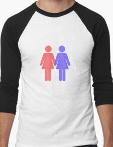 Lesbian Men's Baseball ¾ T-Shirt