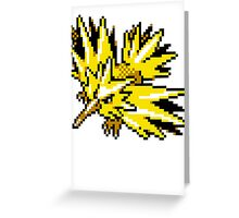 Zapdos Retro Greeting Card