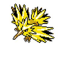 Zapdos Retro Photographic Print