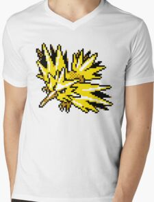 Zapdos Retro Mens V-Neck T-Shirt