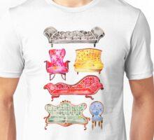 Victorian Lounge – Rainbow Palette Unisex T-Shirt