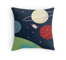 Cartoon Space Throw Pillow