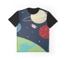 Cartoon Space Graphic T-Shirt