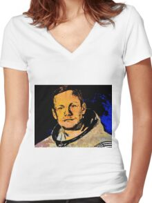 NEIL ARMSTRONG Women's Fitted V-Neck T-Shirt