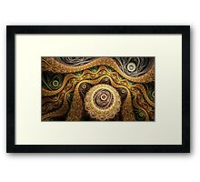 Brown fusion Framed Print