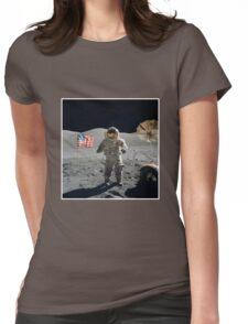 Apollo 17-Eugene Cernan Moonwalk Womens Fitted T-Shirt