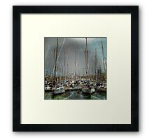 Port de Barcelona Framed Print