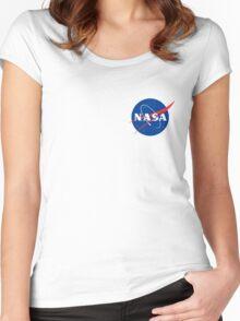Nasa Logo Women's Fitted Scoop T-Shirt