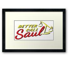 Better Call Saul LOGO Framed Print