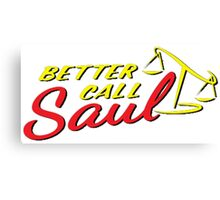 Better Call Saul LOGO Canvas Print