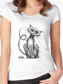 Loopy tail Women's Fitted Scoop T-Shirt
