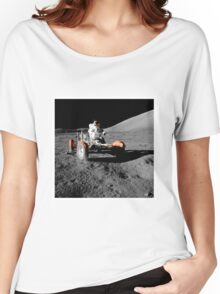 Apollo 17-Eugene Cenan (Lunar Roving Vehicle) Women's Relaxed Fit T-Shirt