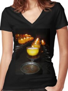 Church Candles Women's Fitted V-Neck T-Shirt