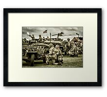40's WWII Re-enactment Framed Print