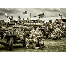 40's WWII Re-enactment Photographic Print