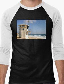 Laguna Beach Lifeguard Tower Men's Baseball ¾ T-Shirt