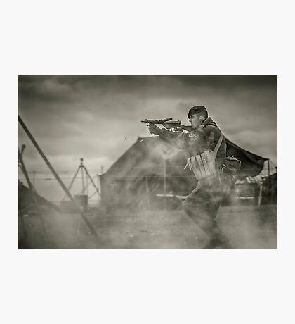 British WWII Soldier Photographic Print