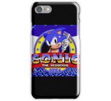 sonic sega logo iPhone Case/Skin