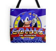 sonic sega logo Tote Bag