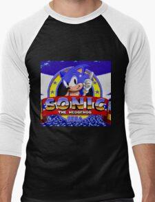 sonic sega logo Men's Baseball ¾ T-Shirt